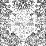 Courage Coloring Page Amazing Courageous Positive Word Coloring Book Printable Coloring Book for