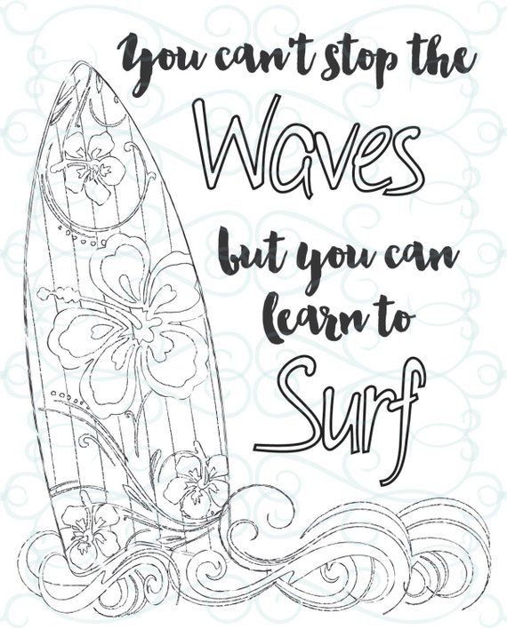 Courage Coloring Page Exclusive Adult Inspirational Coloring Page Printable 03 Learn to Surf