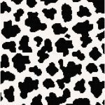 Cow Print Stencil Excellent Cow Print Wall Art In Black and White Cross Stitch Pattern