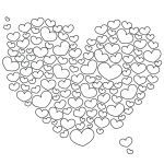 Cow Print Stencil Inspired Heart Outline Printable – Syncla
