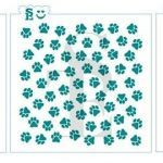 Cow Print Stencil Marvelous Paw Print Stencil for Painting Dog or Cat theme Mural Sku314