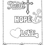 Cross Adult Coloring Pages Brilliant Faith Hope Love Coloring Page Printables