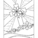 Cross Adult Coloring Pages Inspired Coloring Book World Free Christian Coloring Pages for Kids