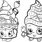 Cupcake Queen the Shopkin Beautiful Coloring Coloring Book Line Bible for Kids Free