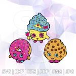 Cupcake Queen the Shopkin Marvelous Shopkins Bakery Svg Dxf Eps Cupcake Queen Layered Cut