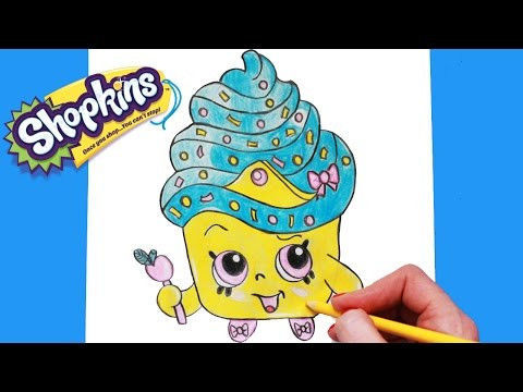 Cupcake Queen the Shopkin Pretty How to Draw Shopkins Season 1 Cupcake Queen Limited Edition Step by