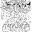 Cuss Word Coloring Books Beautiful New Adult Coloring Pages Swear Words