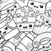Cute Adult Coloring Books Inspiration Cute Kawaii Food Coloring Pages – Littapes