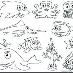 Cute Animal Coloring Pages Printable Marvelous Ocean Animal Coloring Pages