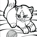 Cute Cat Coloring Pages Amazing Coloring Pages for Cats Baby Cat Big Wings Kitty C – thewestudio