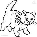 Cute Cat Coloring Pages Awesome Cat Cute Drawing at Getdrawings