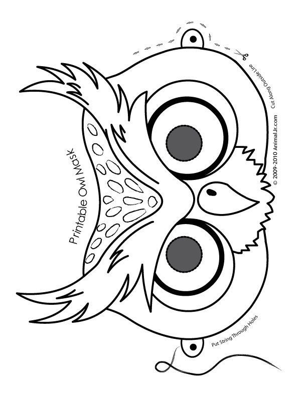 Cute Halloween Coloring Pages for Kids Inspired Owl Cute Printable Halloween Animal Paper Masks Mask Coloring Page