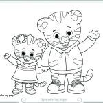Daniel Tiger Coloring Book Inspired Saber tooth Tiger Coloring Page