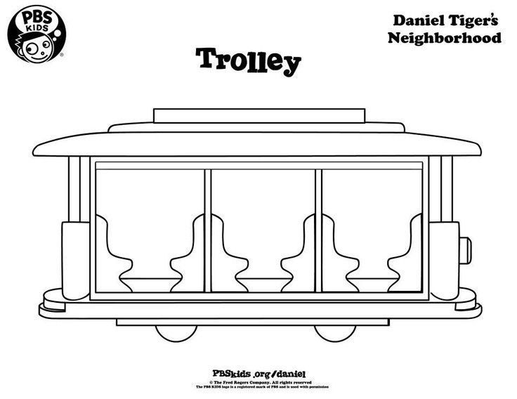 Daniel Tiger Coloring Books Fresh Daniel Tiger Trolley Coloring Page