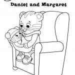Daniel Tiger Coloring Marvelous Daniel Tiger and Margaret Coloring Page Awesome Pages A Colorier De