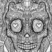 Day Of the Dead Coloring Pages for Adults Creative Elegant Day Dead Skull Coloring Page – Nicho