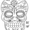 Day Of the Dead Coloring Pages for Adults Creative Free Printable Character Face Masks Seasonal Activities