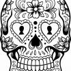 Day Of the Dead Coloring Pages Inspiration Skeleton Coloring Pages Beautiful Skeleton Heads Coloring Pages 28