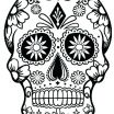 Day Of the Dead Coloring Pages Inspired Sugar Skull Makeup Template Coloring Sheets Blank Pages This is Pic