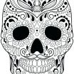 Day Of the Dead Coloring Sheets Exclusive Sugar Skull Coloring Sheets