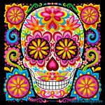 Day Of the Dead Coloring Sheets Inspirational Day Of the Dead Art A Gallery Of Colorful Skull Art Celebrating Dia