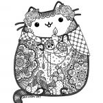 Day Of the Dead Coloring Sheets Inspired Day Of the Dead Pusheen Fan Art by Lxoetting On Deviantart