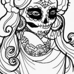 Day Of the Dead Coloring Sheets Inspiring Free Printable Day the Dead Coloring Pages Elegant Day the Dead