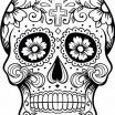 Day Of the Dead Coloring Sheets Pretty Dia De Los Muertos Colouring Pages Holiday Madness