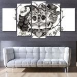 Day Of the Dead Pictures to Print New Modern Artwork Wall Decorative Canvas Printing Type