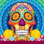 Day Of the Dead Skull Coloring Sheets Amazing Day Of the Dead Art A Gallery Of Colorful Skull Art Celebrating Dia