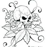 Day Of the Dead Skull Coloring Sheets Amazing Sugar Skull Template Printable Coloring Pages Skulls Stencils