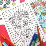 Day Of the Dead Skull Coloring Sheets Beautiful Lovely Sugar Skull with Flowers Coloring Pages – Nicho