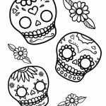 Day Of the Dead Skull Coloring Sheets Beautiful Unique Dia De Muertos Coloring Pages – Doiteasy
