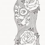 Day Of the Dead Skull Coloring Sheets Brilliant Pin by Julia On Colorings