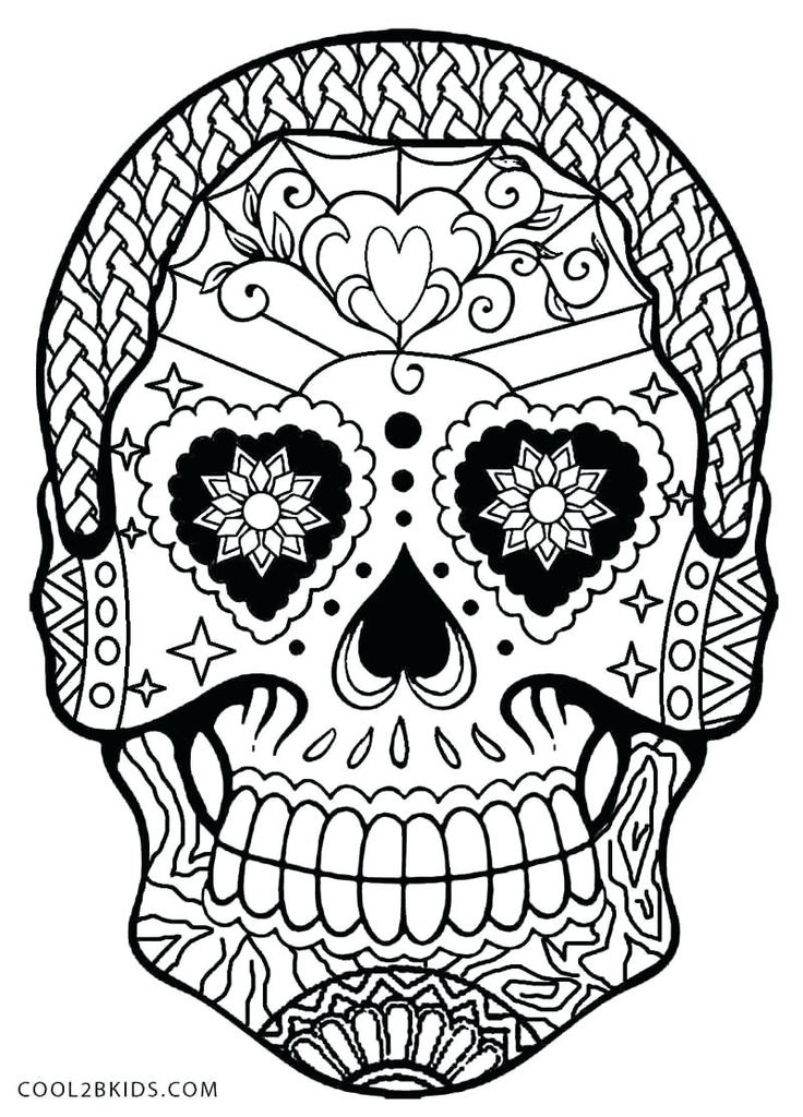Day Of the Dead Skull Coloring Sheets Creative Coloring Day Of the Dead – Sandboxpaper