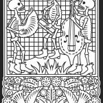 Day Of the Dead Skull Coloring Sheets Excellent Best Dog Skeleton Coloring Page – Tintuc247