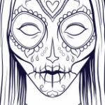 Day Of the Dead Skull Coloring Sheets Inspiration Coloring Pages Skulls Candy Day the Dead for Adults Free