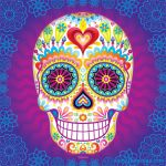 Day Of the Dead Skull Coloring Sheets Inspiration Day Of the Dead Art A Gallery Of Colorful Skull Art Celebrating Dia