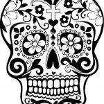 Day Of the Dead Skull Coloring Sheets Inspiration Sugar Skull Makeup Template Coloring Sheets Blank Pages This is Pic