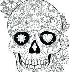 Day Of the Dead Skull Coloring Sheets Inspirational Sugar Skull Coloring Sheets