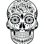 Day Of the Dead Skull Coloring Sheets Inspired Sugar Skull Coloring Sheets