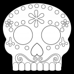 Day Of the Dead Skull Coloring Sheets Pretty Day Of the Dead Masks Sugar Skulls Free Printable Paper Trail Design