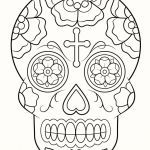 Day Of the Dead Skull Coloring Sheets Wonderful Dia De Los Muertos Skull Drawings Awesome Skull Coloring Pages for
