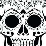 Day Of the Dead Skull Template Printable Amazing Coloring Pages Skulls Free Sugar and Hearts Candy Flames