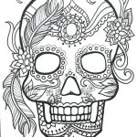 Day Of the Dead Skull Template Printable Awesome Skull Coloring Sheets – Providentparksquarefo