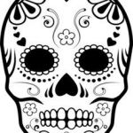 Day Of the Dead Skull Template Printable Best 177 Best Cricut Sugar Skull Images In 2016