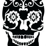 Day Of the Dead Skull Template Printable Elegant Cow Skull Template Small Sugar