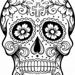 Day Of the Dead Skull Template Printable Excellent C³digo C 028 Coloring
