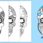 Day Of the Dead Skull Template Printable Excellent Day Of the Dead Skull Mask Decoration Activity