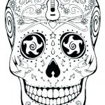 Day Of the Dead Skull Template Printable Excellent Grateful Dead Coloring Pages Day the Dead Coloring Day